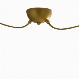 Sospensione Vanity Oro a 2 Pendenti Installazione Muro