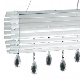 Structure de bandes de verre blanc et décoration de gouttes de cristal K9