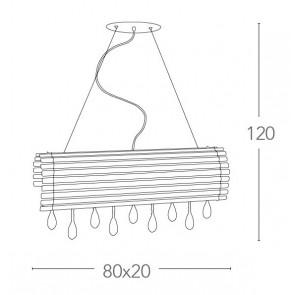 LED-SAMARA-S80 - Lustre suspendu...
