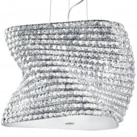 Diffuseur en verre, décoration en cristaux K9, structure métallique