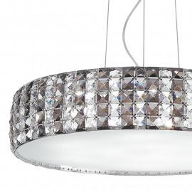 Diffuseur en verre circulaire K9 cristaux décoration ligne structure métallique Tango