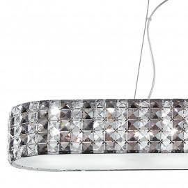 Diffuseur en verre K9 cristaux décoration structure métallique Tango ligne