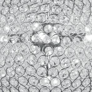 Decoro a Cerchi in Metallo con Cristalli K9 Lampadario Planet