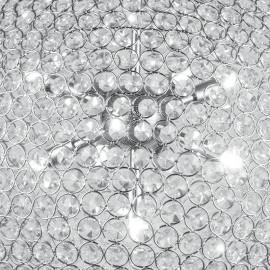 Struttura in Metallo Decoro a Cerchi con Cristalli K9 Linea Planet