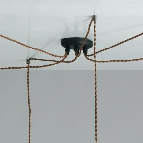 Sospensioni in Tessuto Marrone con Struttura in Alluminio Linea Groove