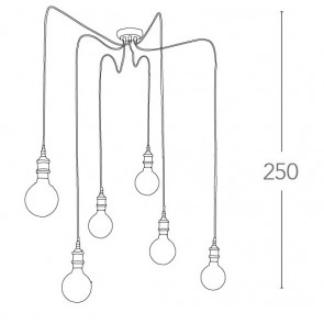 Câble de suspension pour lustre 6 en...