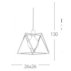 Abat-jour à suspension en métal...