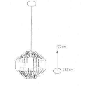 Lustre Suspension Abat-Jour Cage...