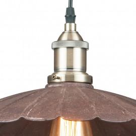 Paralume con bordo merlettato in Metallo Effetto Ruggine Lampadario Grease