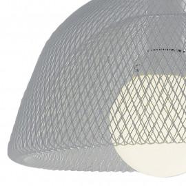 Paralume Circolare in Metallo Bianco con Decoro a Rete Lampadario Harem