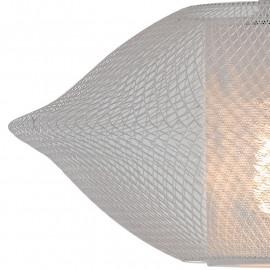 Abat-jour en métal blanc avec décoration nette de lustre Harem