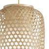 Suspension zen avec décoration tressée en bambou naturel