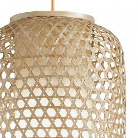 Sospensione Zen con Decoro Intrecciato in Bamboo naturale