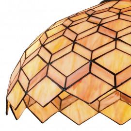 Diffusore in Vetro con Decoro Geometrico Artigianale Sospensione Liberty