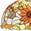 Lampadario Dafne con Diffusore in Vetro con Decoro Floreale Artigianale