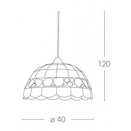 Lustre Aragon avec abat-jour en nacre FanEurope Fruit Design