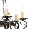 Lampadario Rustica Circolare 6 luci in Metallo Decorato