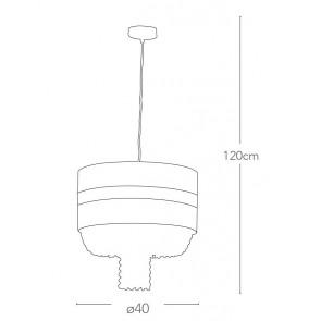 I-CHIGNON / S40 - Lustre à suspension...