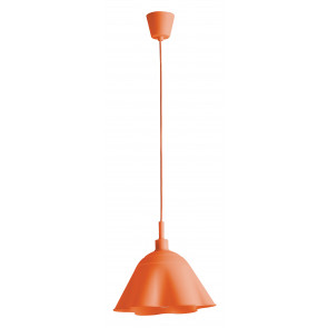 I-MONROE / S1 ARA - Suspension Lustre Moderne en Silicone Souple Orange E27