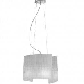 I-PROJECT/S45 - Lampadario Sospeso Moderno Vetro Disegno Astratto Interno E27