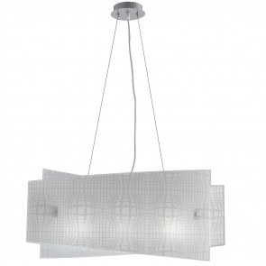 I-PROJECT / S60 - Lustre à Suspension Design Abstrait Moderne Intérieur Verre E27