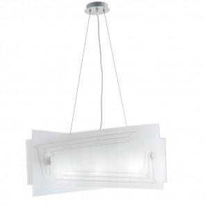 I-CONCEPT/S60 - Lampadario a Sospensione Moderno Vetro Decoro Glitterato Interni E27