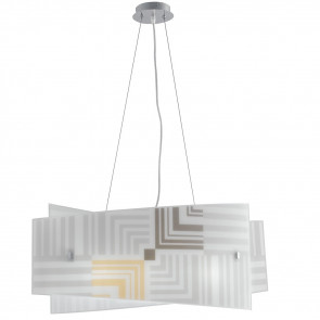 I-SEVENTY / S60 - Lustre suspendu décor flèches verre blanc intérieur moderne E27