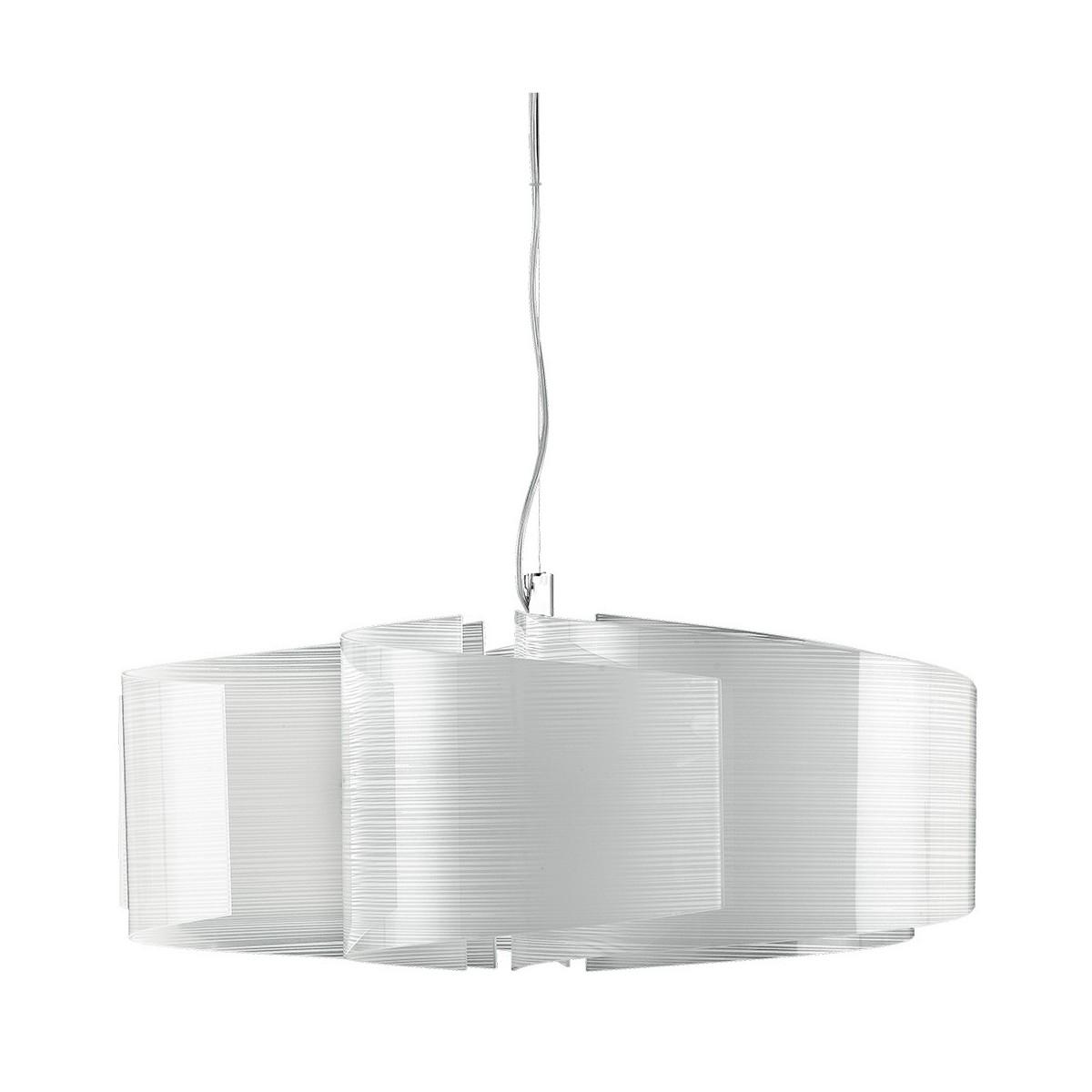I-JOYCE/S6 - Sospensione Decoro Linee Vetro Lampadario Moderno Interno E27