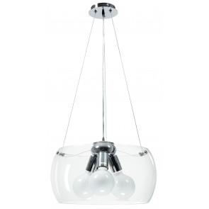 I-EQUATORE / S40TR - Lustre à suspension circulaire en verre transparent intérieur moderne E27