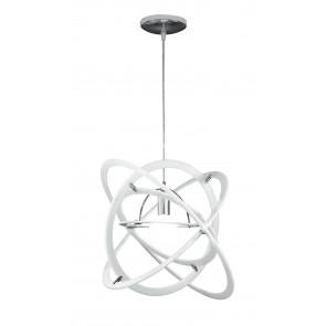 I-ATOM / S1 BCO - Suspension moderne acrylique acrylique blanc lustre E27