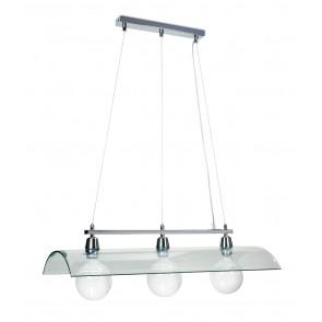I-081225-4D - Sospensione paralume Tegola Vetro Trasparente Lampadario Moderno E27