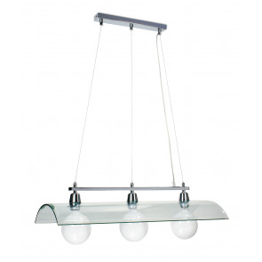 I-081225-4D - Abat-jour suspension Tegola Lustre moderne en verre transparent E27