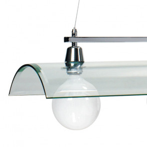 Diffusore a Tegola in Vetro Trasparente Linea Tegola 3 luci