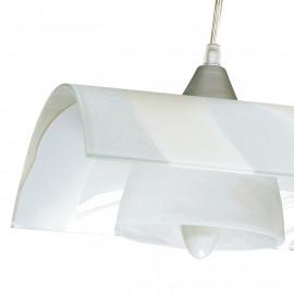 Lustre Zebrata avec diffuseur de carreaux de verre à rayures blanches