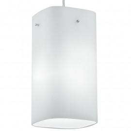Suspension carrée avec diffuseur carré en verre blanc