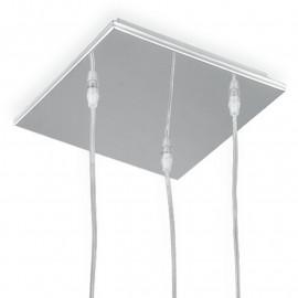 Ventilateur de lustre en métal à suspension carrée 3 Europe