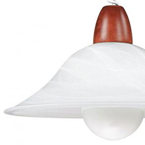 Diffusore in Vetro Sfumato Bianco con Particolare in Legno Lampadario Veste