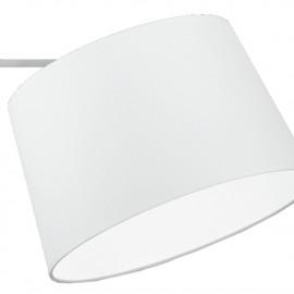 Abat-jour circulaire en tissu blanc Bridge FanEurope Line