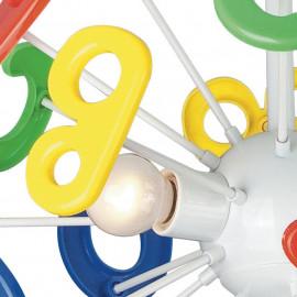 Décoration de lettre acrylique jaune, rouge, verte et bleue