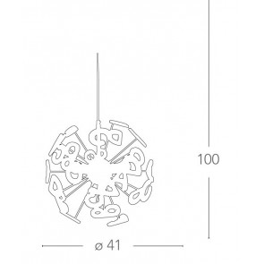 K-LETTERINE / S41 - Lustre en métal...