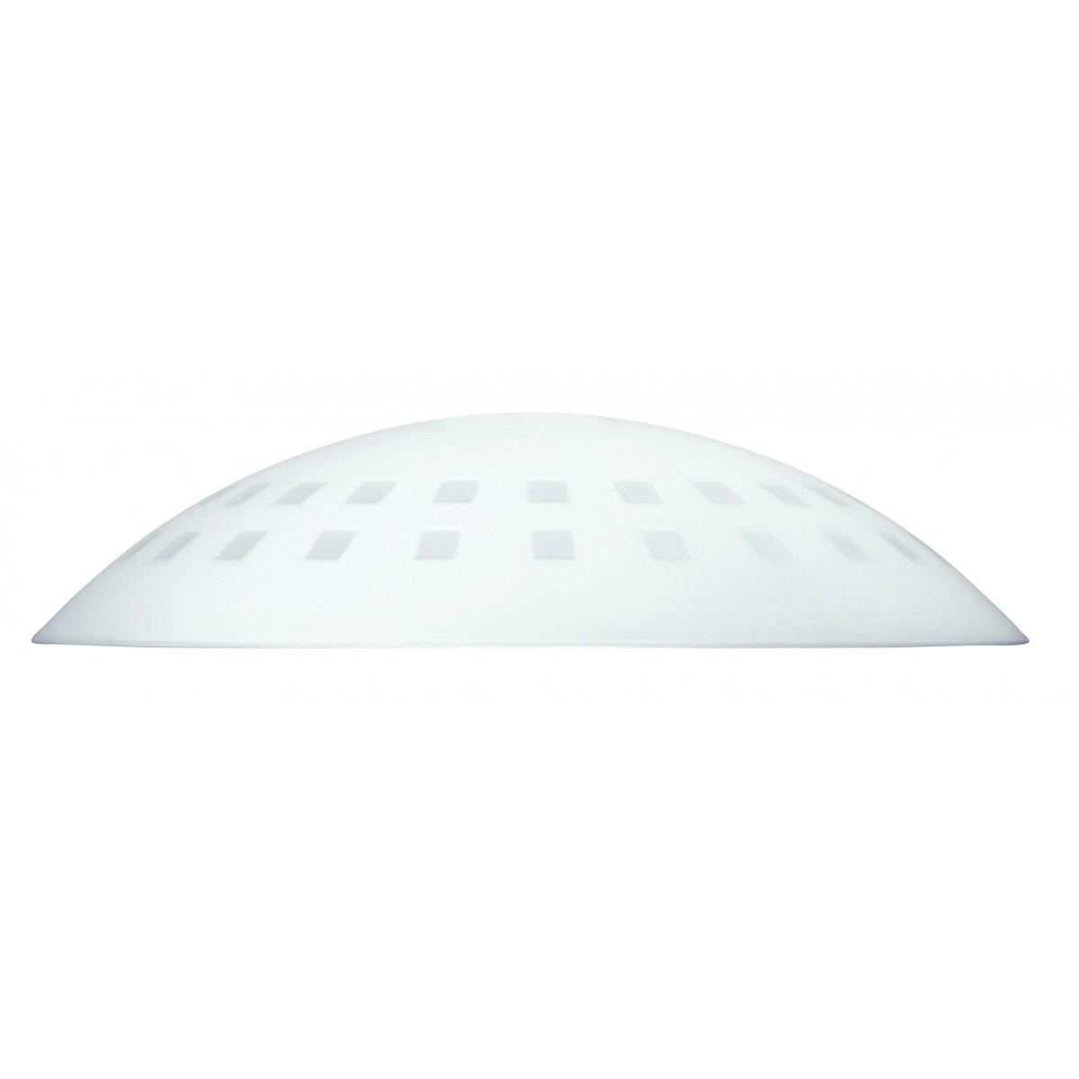 I-V00042400024 - Paralume per Sospensione Vetro Bianco Fori Quadrati 42x10 cm F42