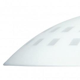 Abat-jour carré en verre blanc avec trous carrés FanEurope