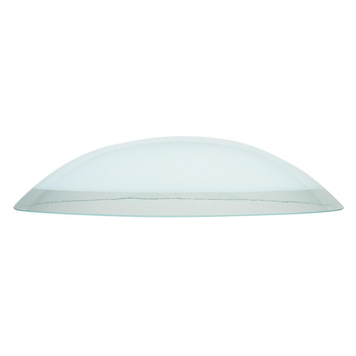 I-V00042490120 - Paralume per Sospensione Vetro Bianco Bordo Trasparente 45x10 cm F42