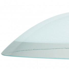 Abat-jour lustre en verre blanc avec bord transparent FanEurope