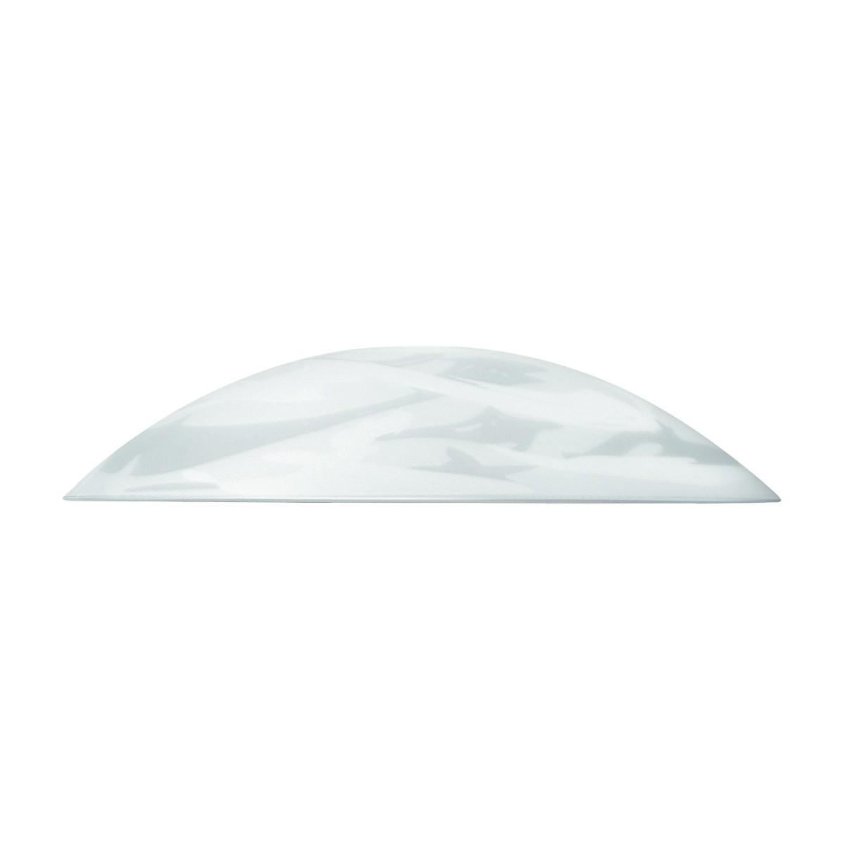 I-V00048400017 - Paralume per Sospensione Vetro Bianco Alabastro 48x10 cm F42