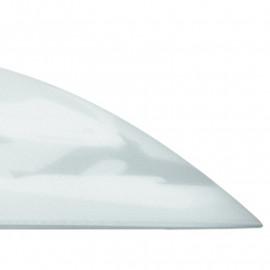 Abat-jour de suspension en verre blanc albâtre avec décoration Gradient Europe Fan