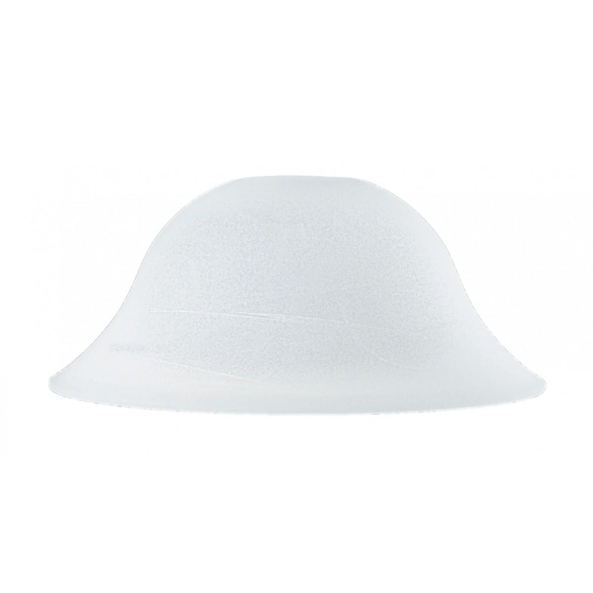 I-V07003104202000 - Abat-jour pour suspendre la cloche en verre albâtre blanc 31x12 cm F42