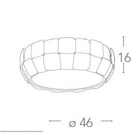I-NECTAR-PL4 - Plafonnier circulaire avec cadre en polycarbonate blanc Décoration Lampe moderne E27