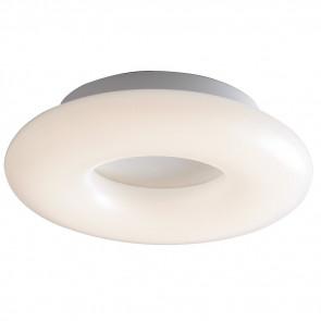 LED-MYLION-PL30 - Plafonnier diffuseur en métal blanc Anneau Opale Interne Led 16 W Lumière naturelle