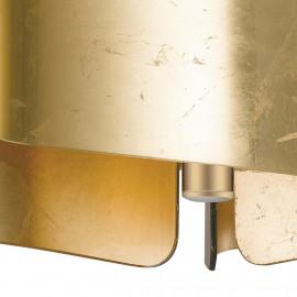 Diffusori in Vetro Oro a Foglio Ripiegato Struttura in Alluminio 3 Luci